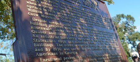 Statesboro HIgh and Industrial School Historical Marker, Statesboro, Georgia, October 2019
